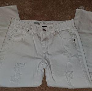 Mossimo Boyfriend Crop Jean White Pants